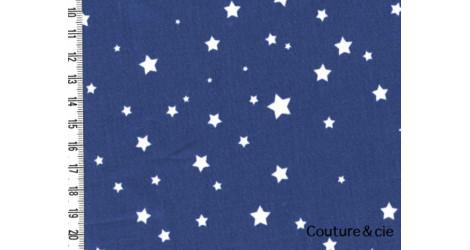 Tissu enduit poussières d'étoiles bleu jean dans Enduits par Couture et Cie