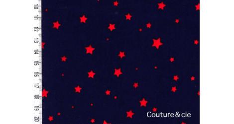 Poussière d'étoiles bleu nuit étoiles rouges