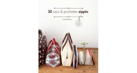 30 sacs et pochettes zippés dans Livres et Patrons par Couture et Cie