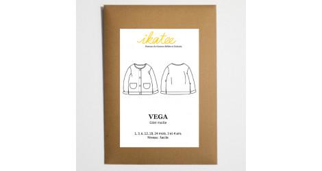 Patron couture gilet maille Vega