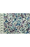 Tissu Liberty Nina Taylor bleu, coupon 35*137cm