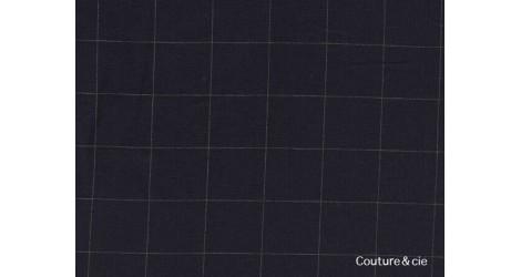 Double gaze FDS bleu marine carreaux or dans FRANCE DUVAL STALLA par Couture et Cie