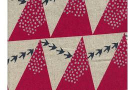 Tissu Echino coton lin Hill rouge
