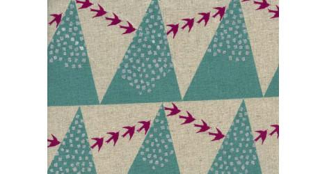 Tissu Echino coton lin Hill aqua dans TISSUS JAPONAIS par Couture et Cie