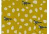 Tissu Echino Stone jaune moutarde x10cm dans TISSUS JAPONAIS par Couture et Cie