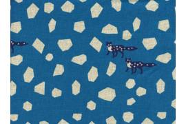 Tissu Echino Stone bleu x10cm