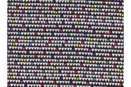 Tissu Alexander Henry Heart to heart noir x10cm