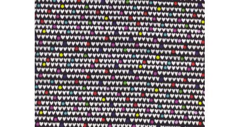 Tissu Alexander Henry Heart to heart noir x10cm dans Alexander Henry Fabrics par Couture et Cie