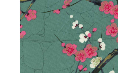 Tissu Alexander Henry Indochine vert x10cm dans Alexander Henry Fabrics par Couture et Cie