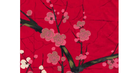Tissu Alexander Henry Indochine rouge x10cm dans Alexander Henry Fabrics par Couture et Cie