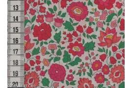 Tissu Liberty d'Anjo rose et vert