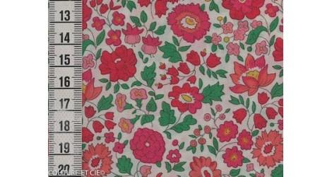 Tissu Liberty d'Anjo rose et vert dans Tissus LIBERTY OF LONDON par Couture et Cie