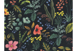 Tissu Rifle paper Co Amalfi Herb Garden Canvas noir x10cm