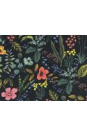 Tissu Rifle paper Co Amalfi Herb Garden Canvas noir, coupon 65x110cm