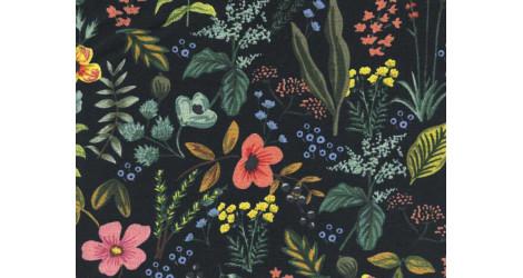 Tissu Rifle paper Co Amalfi Herb Garden Canvas noir, coupon 65x110cm dans COTTON + STEEL par Couture et Cie