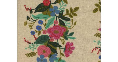 Tissu Rifle paper English garden Floral Vines crème Canvas x10cm dans COTTON + STEEL par Couture et Cie