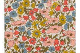 Tissu liberty poppy and Daisy venus x10cm