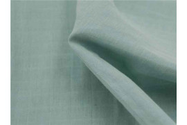 Lange bio à carreaux faux uni menthe x10cm