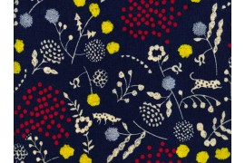 toile enduite Echino bleu savane x10cm