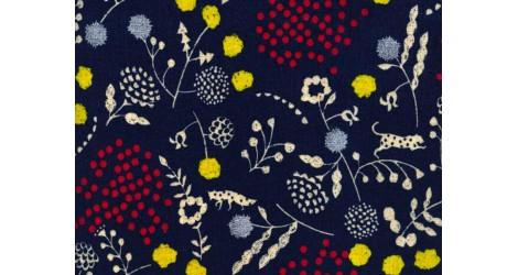 toile enduite Echino bleu savane x10cm dans Echino par Couture et Cie