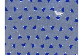 toile enduite Echino gris triangle x10cm