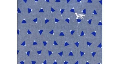 toile enduite Echino gris triangle x10cm dans Echino par Couture et Cie