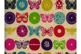 toile enduite Echino papillonsx10cm