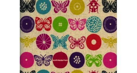 toile enduite Echino papillonsx10cm dans Echino par Couture et Cie