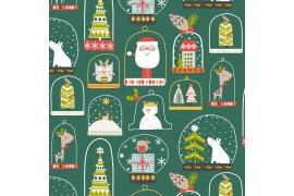 Tissu Christmas party x10cm