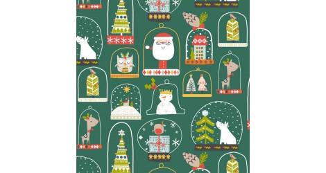 Tissu Christmas party x10cm dans Tissus Noël par Couture et Cie