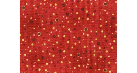 Tissu rouge Amazing Stars x10cm