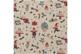 Tissu Noël Elfes, coupon 75*140cm