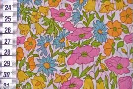 Liberty Poppy & Daisy rose, jaune et bleu