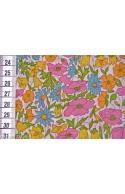 Liberty Poppy & Daisy rose, jaune et bleu, x10cm