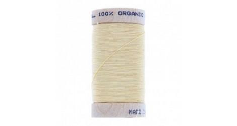 fil à coudre coton biologique jaune paille 4802 dans Fils à coudre bio par Couture et Cie