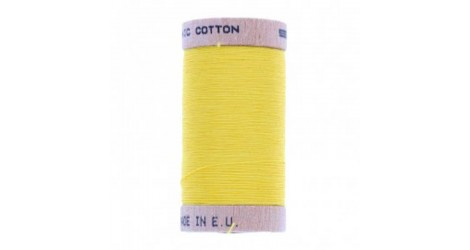 fil à coudre coton biologique jaune citron 4803 dans Fils à coudre bio par Couture et Cie