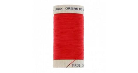 fil à coudre coton biologique rouge 4805