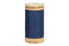 fil à coudre coton biologique bleu pétrole 4815