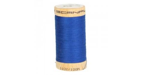 Fil à coudre coton biologique bleu roy 4817 dans Fils à coudre bio par Couture et Cie