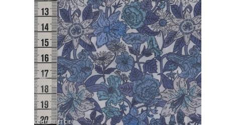 Tissu Liberty Phyllis bleu dans LIBERTY OF LONDON par Couture et Cie