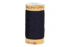 Fil à coudre coton biologique bleu marine 4818