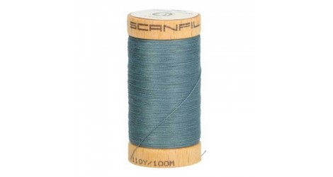 Fil à coudre coton biologique bleu acier 4819
