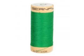 Fil à coudre coton biologique vert émeraude 4821