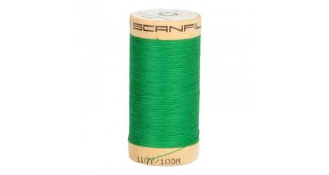 Fil à coudre coton biologique vert émeraude 4821 dans Mercerie par Couture et Cie
