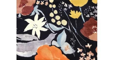 Nani Iro, Fuccra Rakuen noir x10cm dans TISSUS JAPONAIS par Couture et Cie