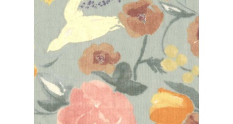 Nani Iro, Fuccra Rakuen gris bleu x10cm dans TISSUS JAPONAIS par Couture et Cie