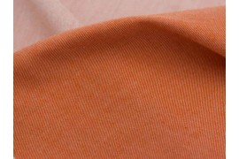 Chambray coton biologique roux, X10cm