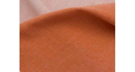 Chambray coton biologique roux, X10cm dans TISSUS BIOLOGIQUES par Couture et Cie