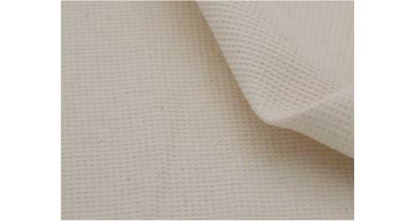 Nid d'abeille écru petits carreaux X10cm dans TISSUS BIOLOGIQUES par Couture et Cie