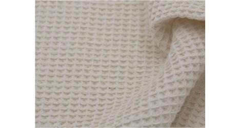 Nid d'abeille écru grands carreaux X10cm dans Les Trouvailles d'Amandine par Couture et Cie